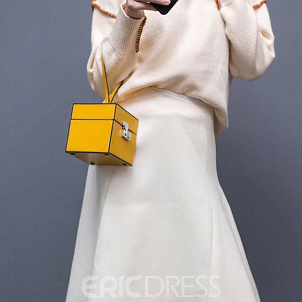 Ericdress Fashion Thread Plain Trunk Tote Bags