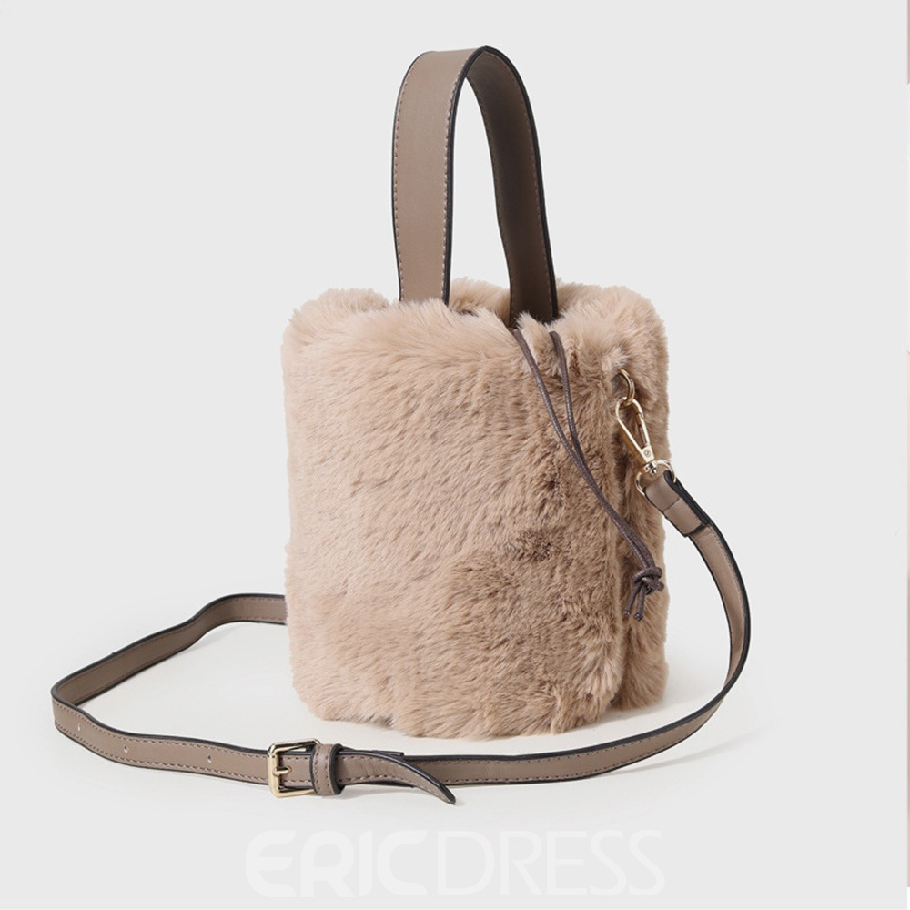 Ericdress Plain Fashion Polyester Barrel-Shaped Crossbody Bags