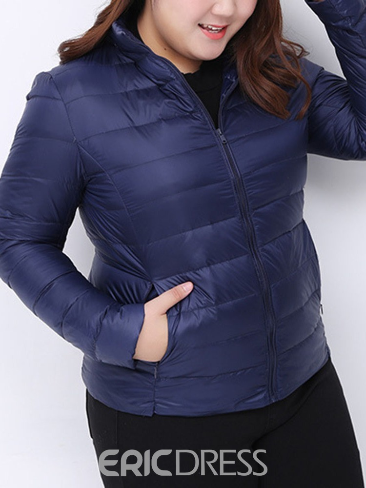 Ericdress Pocket Slim Thin Standard Cotton Padded Women's Jacket