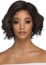 Ericdress Natural Looking Layered Wavy Hairstyle Human Hair Capless Wigs for African American Women 12Inch