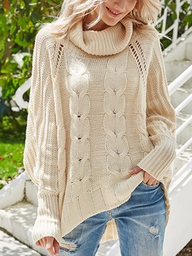 Ericdress Patchwork Batwing Sleeve Thin Fall Long Sleeve Women's Sweater