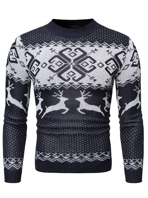 Ericdress Cartoon Standard European Winter Christmas Men's Sweater