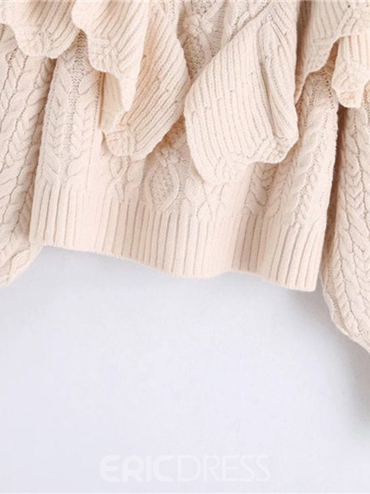 Ericdress Thin Patchwork Long Sleeve Turtleneck Women's Sweater