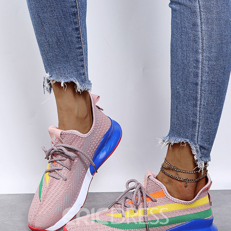 Ericdress Lace-Up Low-Cut Upper Round Toe Letter Sneakers