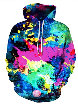 Ericdress Paint Splatters Pullover Men's Slim Hooded