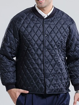 Ericdress Plain Standard Stand Collar Casual Single-Breasted Men's Down Jacket