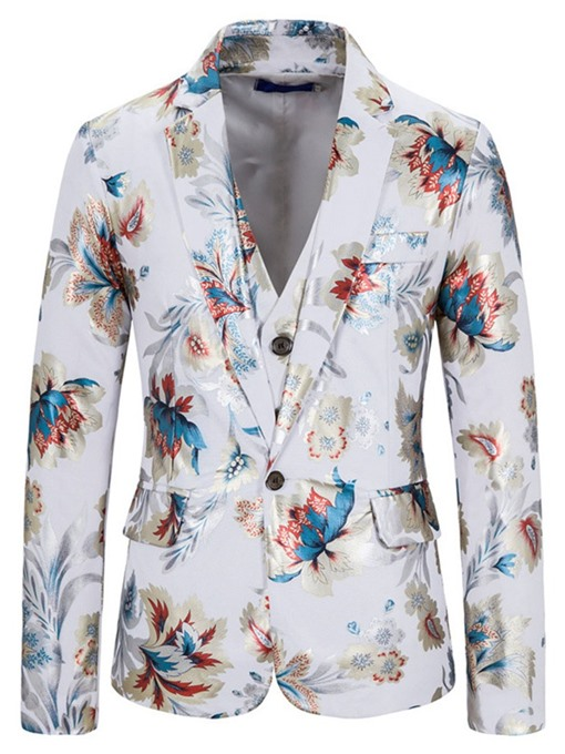 Ericdress Vest Floral Print Men's Dress Suit
