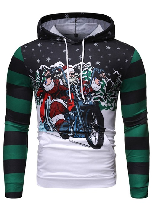 Ericdress Pullover Print Hooded Casual Men's Christmas