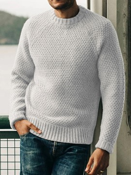Ericdress Standard Plain Men's Slim Fall Sweater