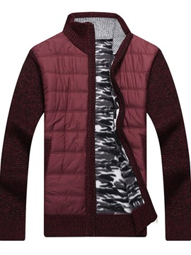 ericdress patchwork pull droit hiver standard pour homme