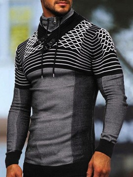 Ericdress Patchwork Pullover Stripe Fall Casual Men's Hoodies