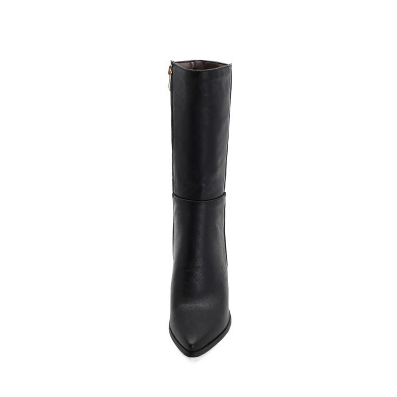 Ericdress Side Zipper Pointed Toe Plain Lace-Up Boots