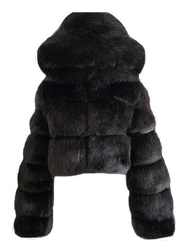Ericdress Plain Hooded Short Winter Women's Slim Faux Fur Overcoat
