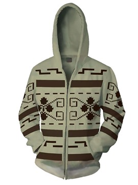 Ericdress Cardigan Print Men's European Hoodies