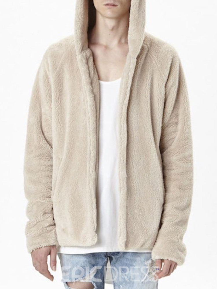 Ericdress Hooded Plain European Loose Men's Jacket