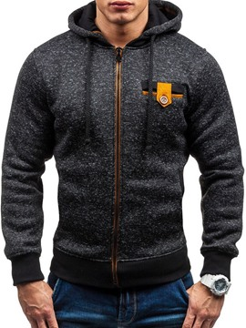 Ericdress Patchwork Fleece Color Block Fall Zipper Men's Hoodies
