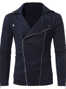 Ericdress Cardigan Plain Zipper Fall Men's Hoodies