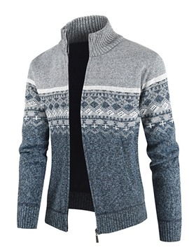 Ericdress Standard Color Block Winter Men's Slim Sweater