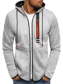 Ericdress Color Block Cardigan Patchwork Zipper Fall Men's Hoodies