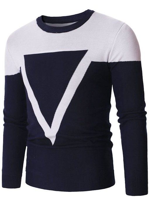 Ericdress Standard Patchwork Color Block Fall Men's Slim Sweater
