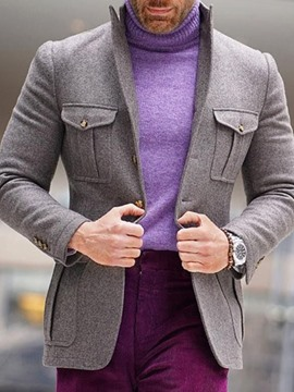 Ericdress Slim Plain Casual Men's Leisure Blazer