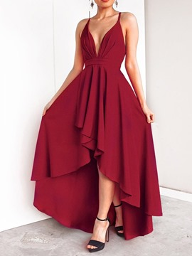 Ericdress Asymmetric Floor-Length Sleeveless Fall Women's Dress