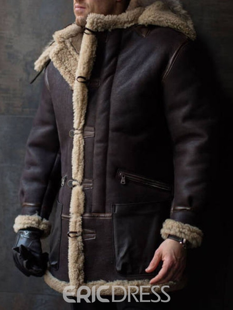 Ericdress Patchwork Mid-Length European Men's Down Jacket