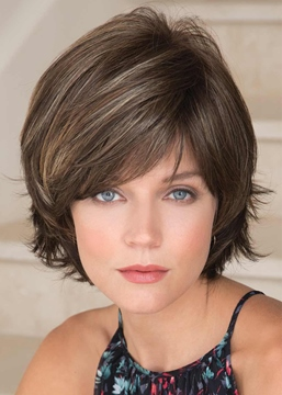 Ericdress Short Shaggy Layered Straight Synthetic Hair Capless Wigs With Bangs 8Inch