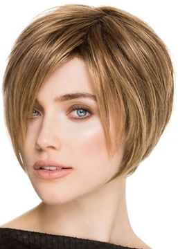 Ericdress Short Boy Cut Straight Shaggy Style Synthetic Hair Capless Wigs 8Inch