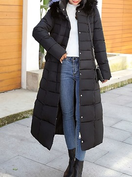Ericdress Slim Pocket Zipper Long Cotton Padded Women's Jacket