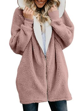 Ericdress Zipper Zipper Plain Women's Fall Hoodie
