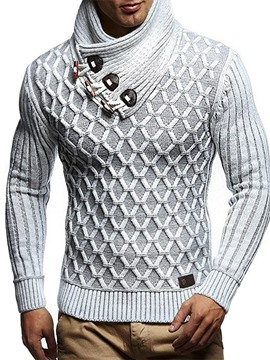 Ericdress Geometric Turtleneck Standard England Men's weater