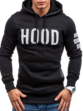 Ericdress Letter Print Pullover Men's Slim Hoodies