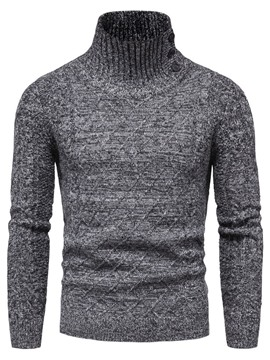 Ericdress Button Turtleneck Standard Fall Casual Men's Sweater