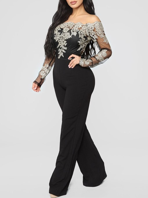 Ericdress Party/Cocktail Floral Full Length Straight Women's Slim Jumpsuit