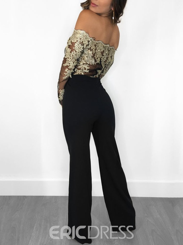 ericdress party / cocktail floral largo recto mujer slim mono
