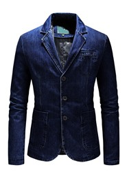 Ericdress Notched Lapel Worn Single-Breasted Mens Leisure Blazer