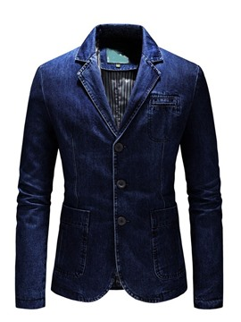 Ericdress Notched Lapel Worn Single-Breasted Men's Leisure Blazer