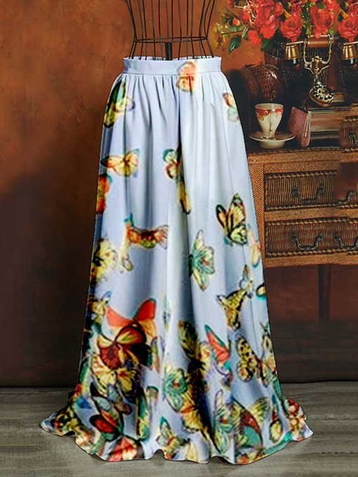 Ericdress Expansion Animal Floor-Length Sweet High Waist Women's Skirt