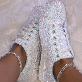 Ericdress Low-Cut Upper Sequin Round Toe Casual Women's Sneakers