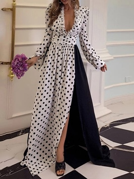Ericdress Split Long Sleeve Floor-Length Fashion Expansion Women's Dress