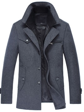 Ericdress Standard Double-Layer Fall Men's Single-Breasted Coat