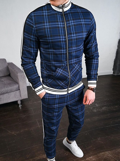 Ericdress Casual Patchwork Pants Fall Men's Outfit