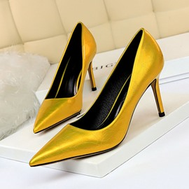 Ericdress Stiletto Heel Slip-On Pointed Toe Low-Cut Upper Thin Women's Shoes