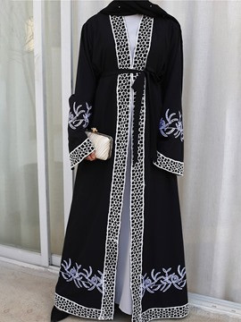 ericdress long trench-coat à manches longues en dentelle