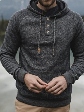 Ericdress Pocket Pullover Casual Men's Hoodies