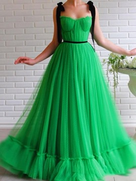Ericdress Floor-Length Mesh Sleeveless Expansion Sweet Women's Dress