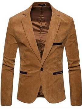 Ericdress One Button Casual Men's Slim Leisure Blazer