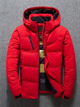 Ericdress Plain Standard Casual Men's Down Jacket