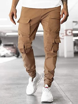 Ericdress Pencil Pants Plain Pocket Mid Waist European Men's Casual Pants